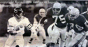Norm Evans Seahawk Report, January 6, 1983, Photos by Rich Baker and Corky Trewin