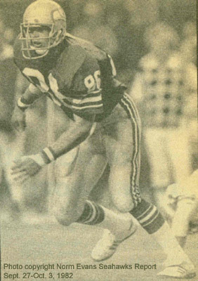 Photo from Norm Evans' Seahawks Report, 1982