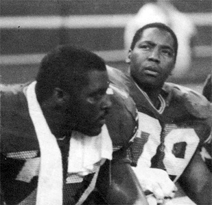 Jacob Green and Jeff Bryant, Scanned from Inside the Seahawks 1986