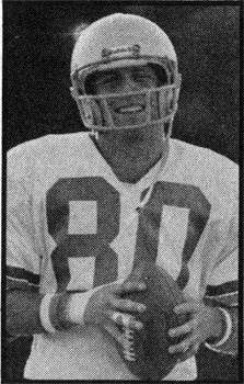 Steve Largent picture scanned from Inside the Seahawks Magazine