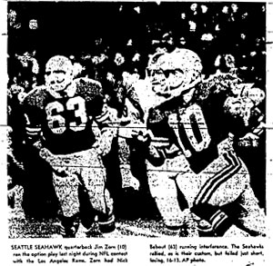 Nick Bebout and Jim Zorn Scanned from Seattle-PI Newspaper Archives