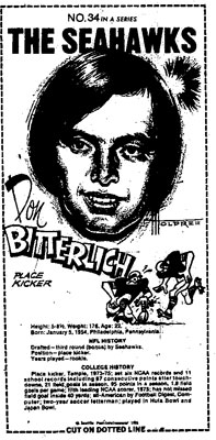 Bitterlich Mini Poster Scanned from Seattle-PI Newspaper Archives