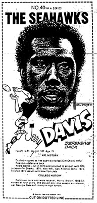 Jerry Davis Mini Poster Scanned from Seattle-PI Newspaper Archives