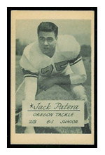 Jack Patera vintage football card