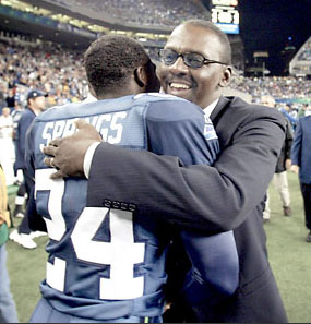 Kenny Easley & Shawn Springs at Easley's Ring of Honor celebration, 2002!