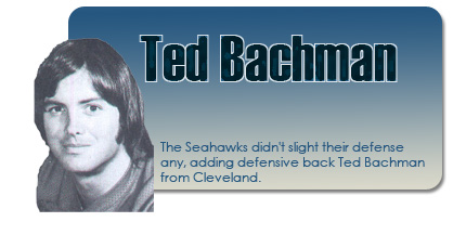 Ted Bachman, Seattle Seahawks